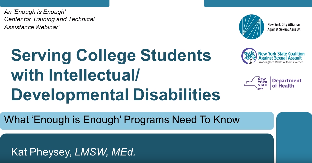 Serving Students with Intellectual and Developmental Disabilities, Part I