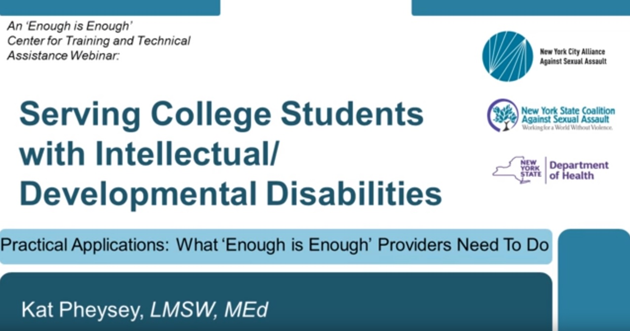 Serving Students with Intellectual and Developmental Disabilities, Part II
